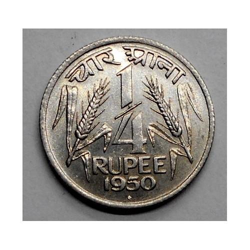 INDIA 1/4 Rupee 1950 B