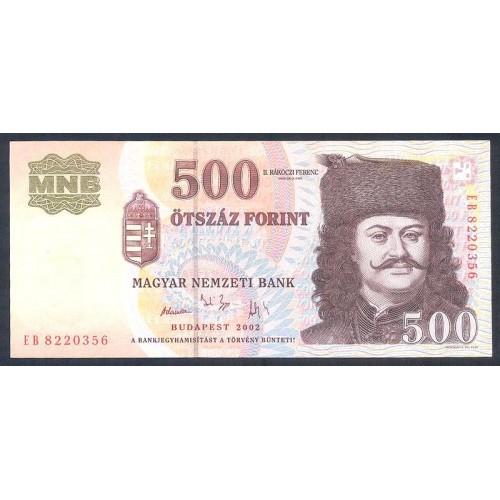 HUNGARY 500 Forint 2002
