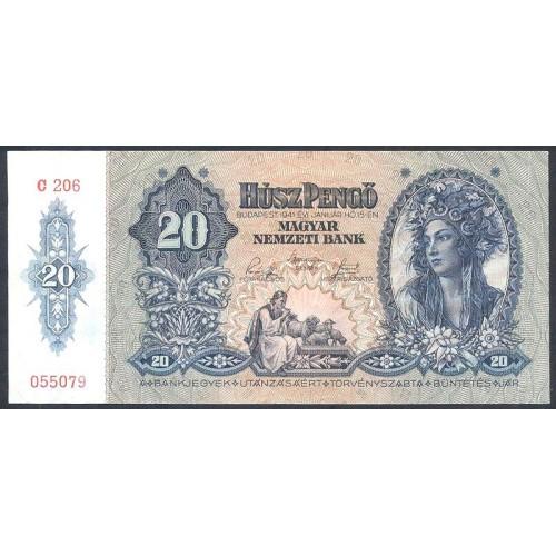 HUNGARY 20 Pengo 1941