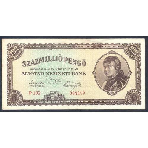 HUNGARY 100.000.000 Pengo 1946