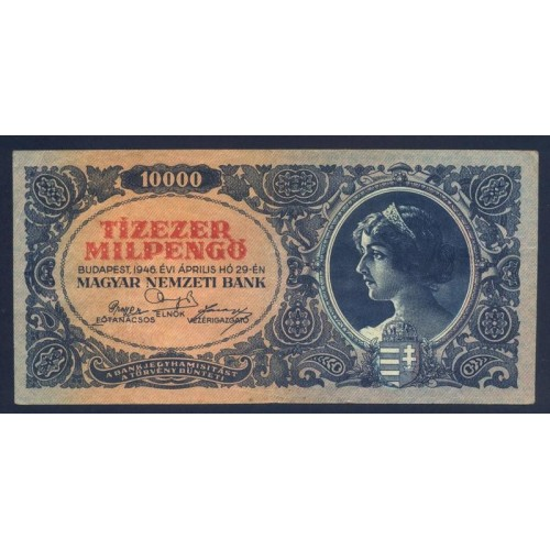 HUNGARY 10.000 Milpengo 1946