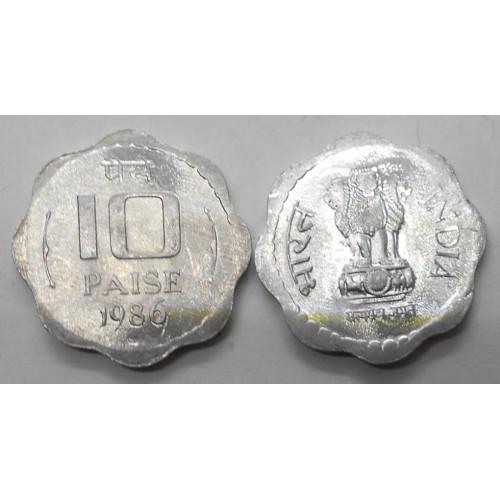 INDIA 10 Paise 1986 C