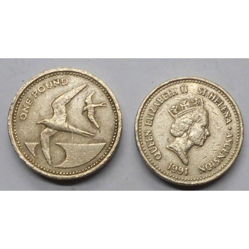 SAINT HELENA 1 Pound 1991...