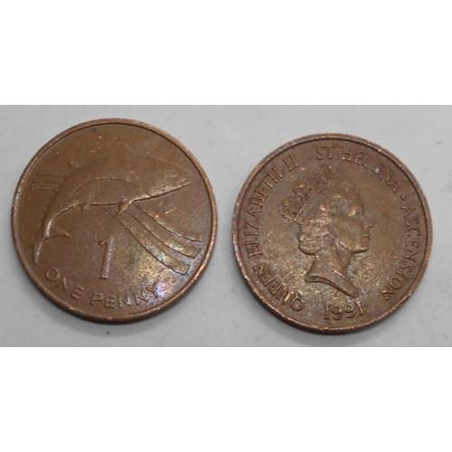 SAINT HELENA 1 Penny 1991