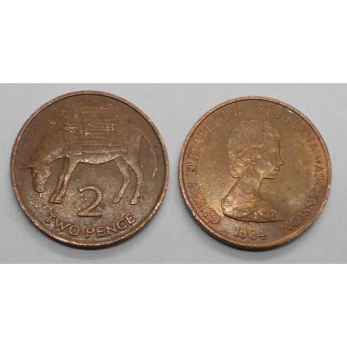 SAINT HELENA 2 Pence 1984