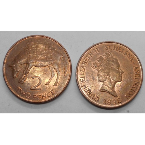 SAINT HELENA 2 Pence 1998