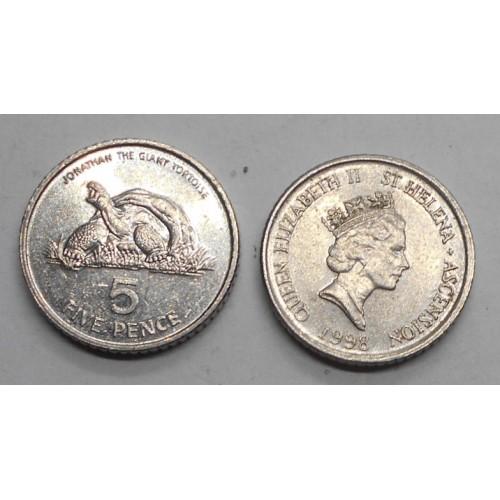 SAINT HELENA 5 Pence 1998...