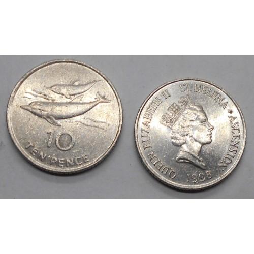 SAINT HELENA 10 Pence 1998...