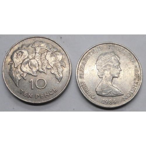 SAINT HELENA 10 Pence 1984