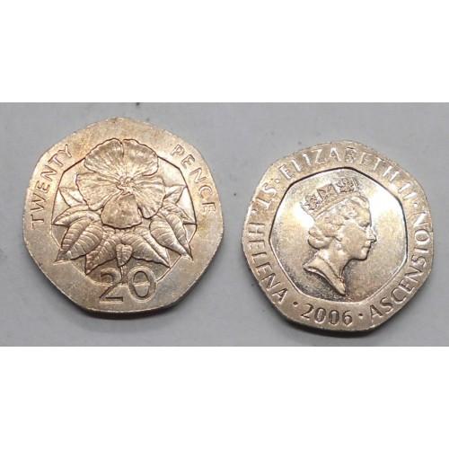 SAINT HELENA 20 Pence 2006