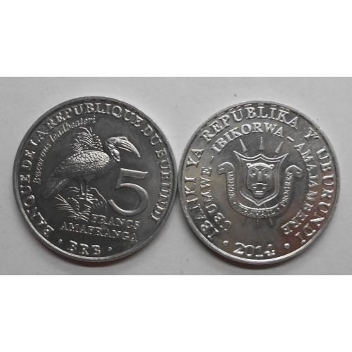 BURUNDI 5 Francs 2014...