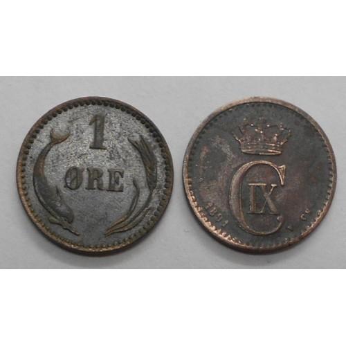 DENMARK 1 Ore 1891