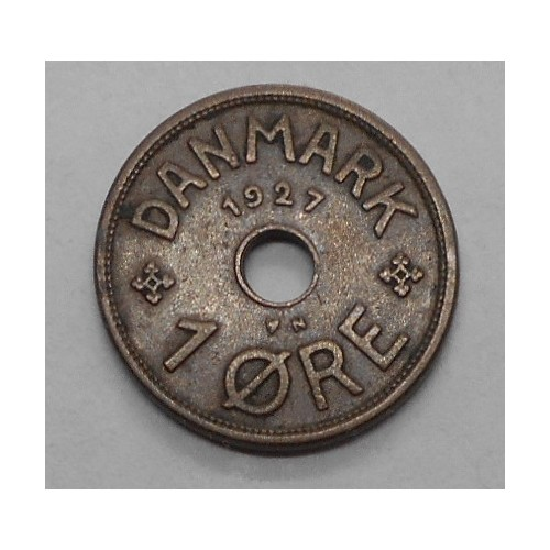 DENMARK 1 Ore 1927 N