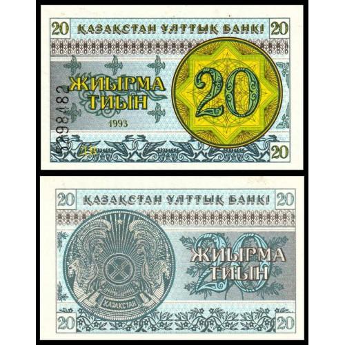 KAZAKHSTAN 20 Tyin 1993