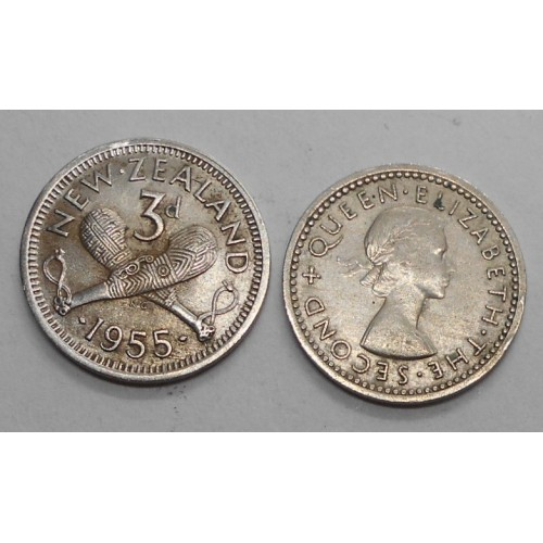 NEW ZEALAND 3 Pence 1955