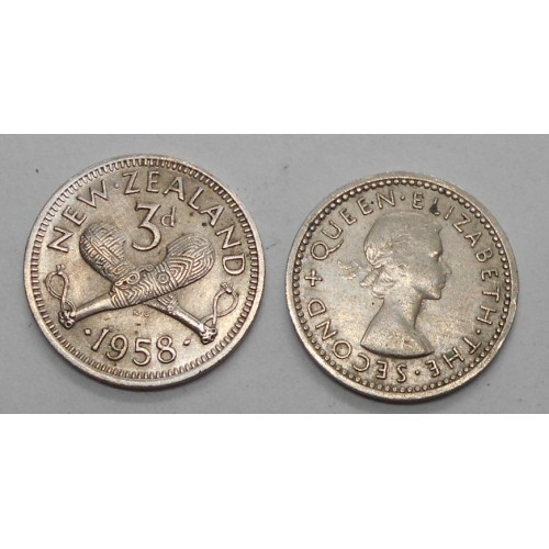 NEW ZEALAND 3 Pence 1958