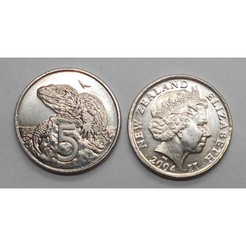 NEW ZEALAND 5 Cents 2004