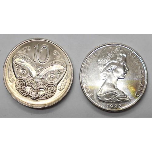 NEW ZEALAND 10 Cents 1982