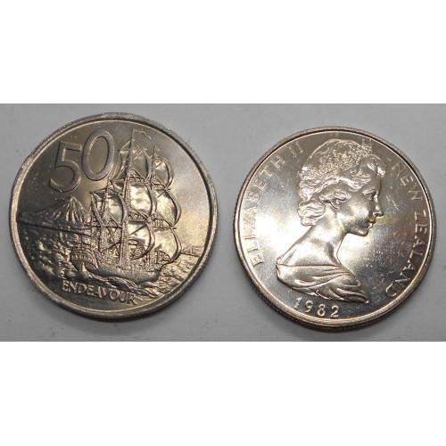 NEW ZEALAND 50 Cents 1982