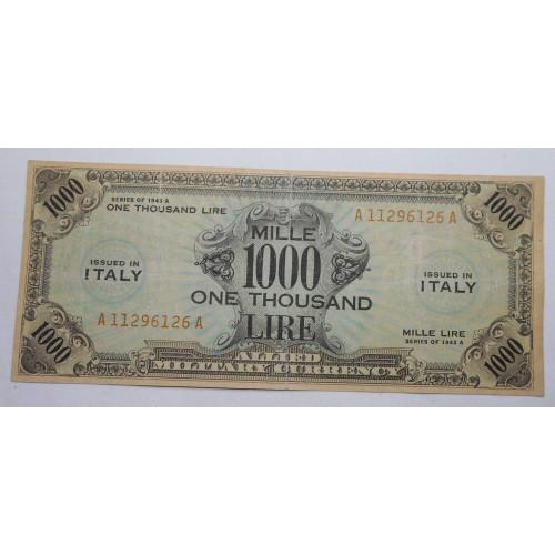 1000 AM LIRE BILINGUE 1943...