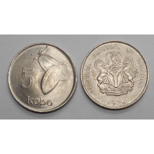 NIGERIA 5 Kobo 1976