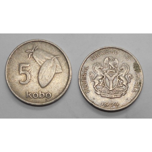 NIGERIA 5 Kobo 1974