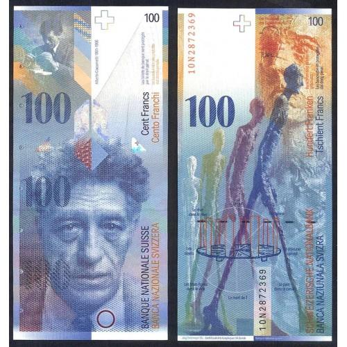 SWITZERLAND 100 Franken 2010
