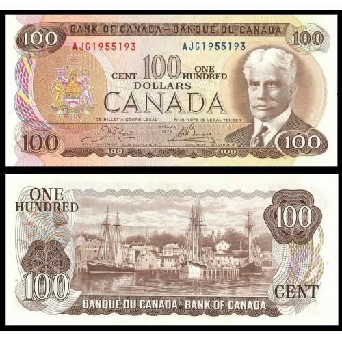 CANADA 100 Dollars 1975