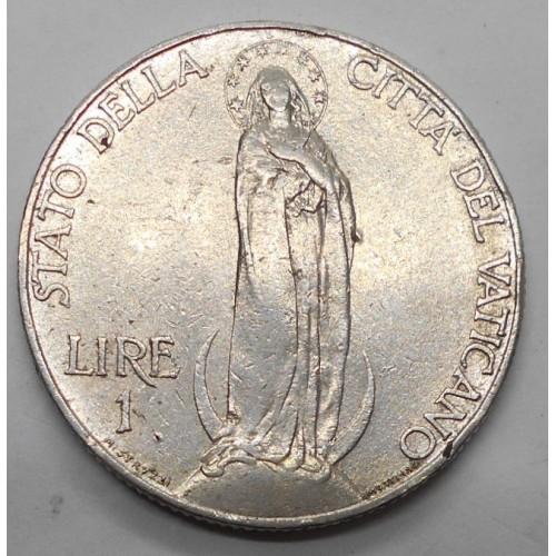 VATICANO Pio XI 1 Lira 1936