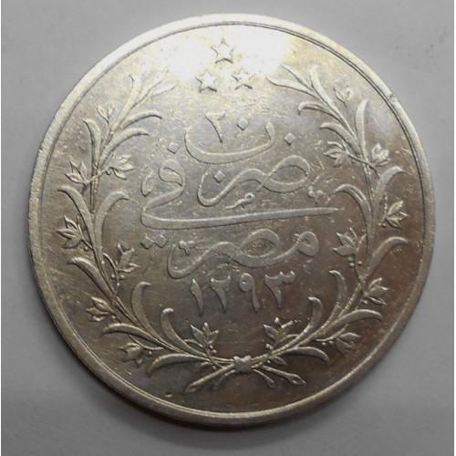 EGYPT 10 Qirh AH 1293/20...