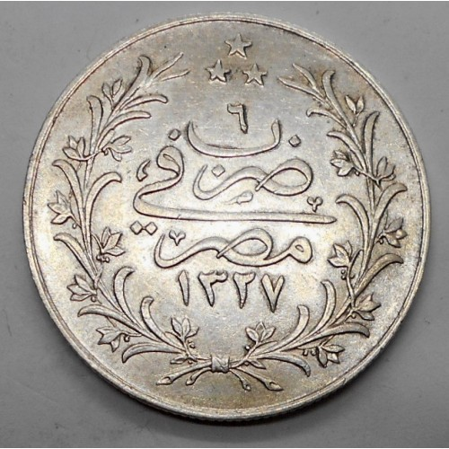 EGYPT 10 Qirsh AH 1327/6...