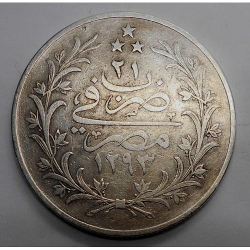 EGYPT 20 Qirsh AH 1293/21...