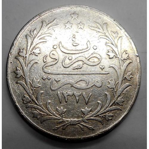 EGYPT 20 Qirsh AH 1327/4H...