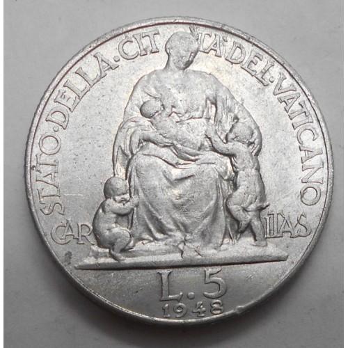VATICANO 5 Lire 1948
