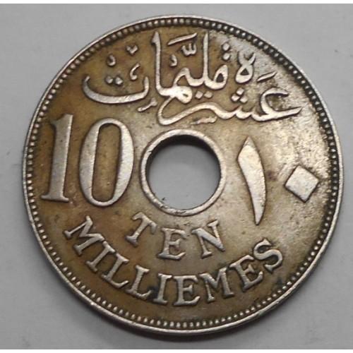 EGYPT 10 Milliemes 1916