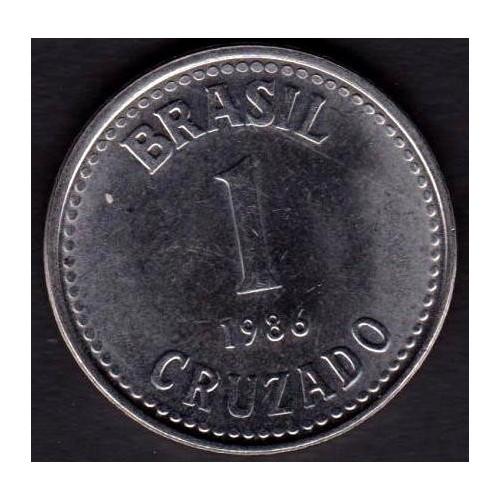 BRAZIL 1 Cruzado 1986