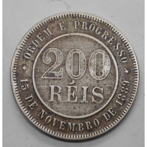 BRAZIL 200 Reis 1897