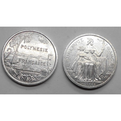 FRENCH POLYNESIA 2 Francs 2001
