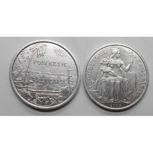 FRENCH POLYNESIA 2 Francs 2007