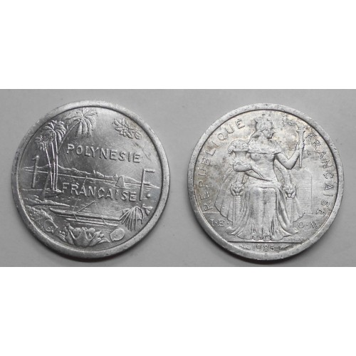 FRENCH POLYNESIA 1 Franc 1985