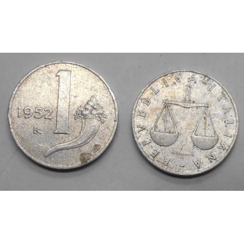 1 LIRA 1952