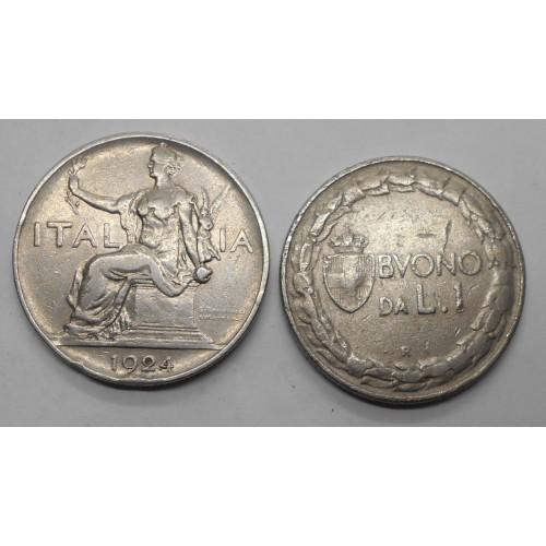 BUONO 1 LIRA 1924