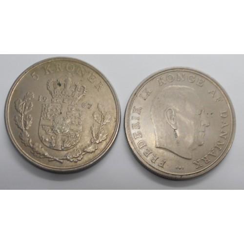 DENMARK 5 Kroner 1967