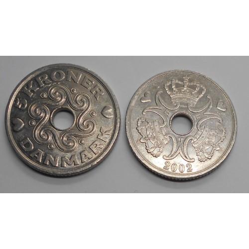 DENMARK 5 Kroner 2002