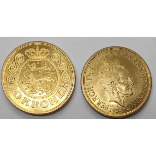 DENMARK 20 Kroner 1994