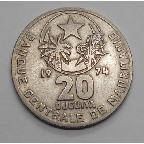 MAURITANIA 20 Ouguiya 1974