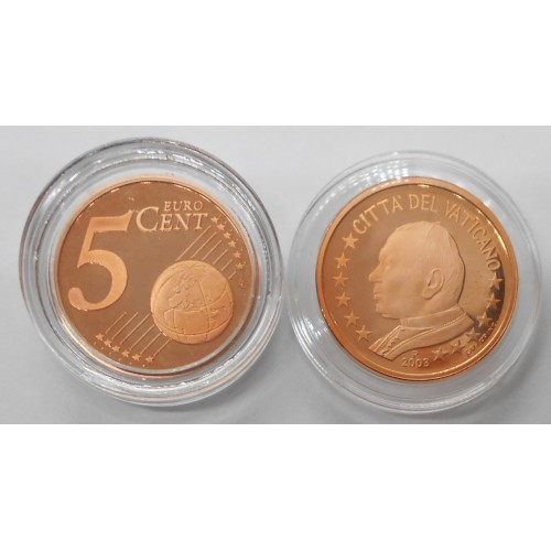 VATICANO 5 Euro Cent 2003...