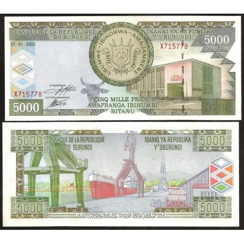 BURUNDI 5000 Francs 2003