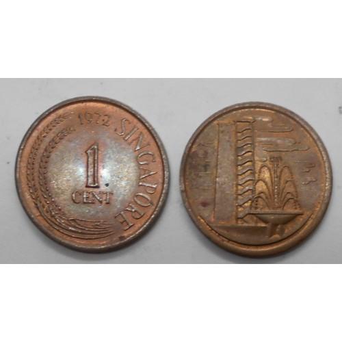 SINGAPORE 1 Cent 1972