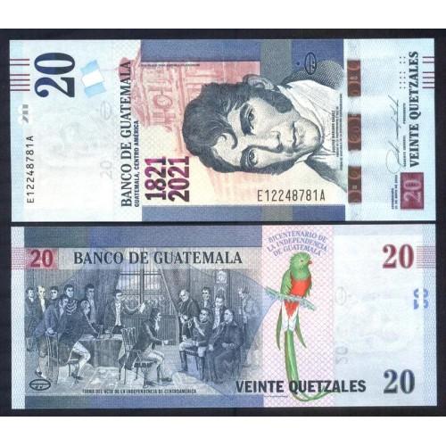 GUATEMALA 20 Quetzales 2020...